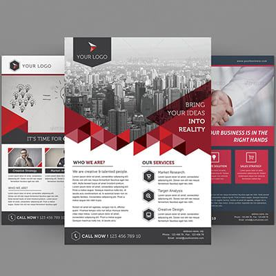 Flyer Content creation Outsourcing Service