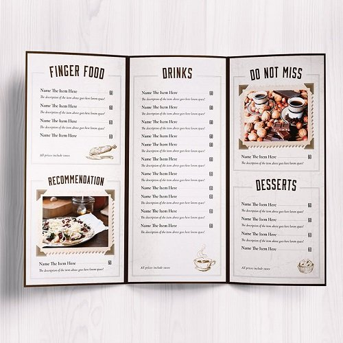 Menu Design Outsourcing Service