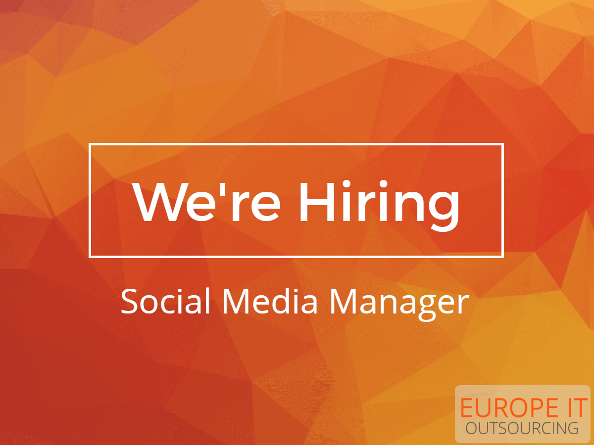 social media specialist job europe it outsourcing