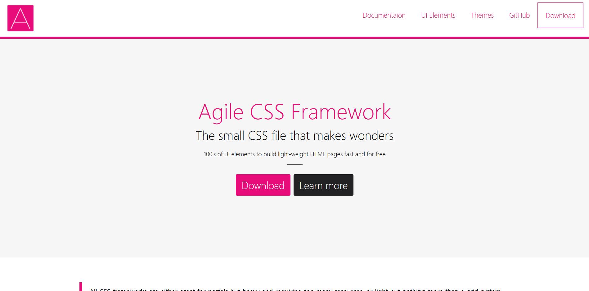 Agile CSS Framework